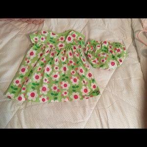 Carter's 9M Girls Floral Dress.